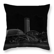 Black Pencil - A Tall Hotel The Swissotel Hotel In Singapore Throw Pillow
