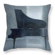 Black Piano 2004 Throw Pillow