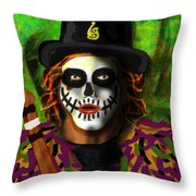 Black Pig Morris Throw Pillow