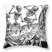 Black Plague, 1493 Throw Pillow