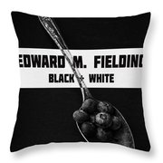 Black Plus White Book Cover Throw Pillow