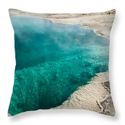 Black Pool In West Thumb Geyser Basin Throw Pillow