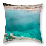 Black Pool In West Thumb Geyser Basin In Yellowstone National Park Throw Pillow
