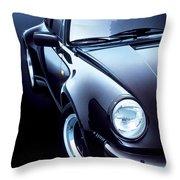 Black Porsche Turbo Throw Pillow