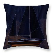 Black Princess Throw Pillow