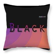 Black Rainbow Orange Throw Pillow