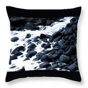 Black Rocks Along The Puna Coast Throw Pillow