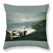 Black Sands Beach Throw Pillow