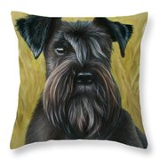 Black Schanuzer Throw Pillow