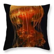 Black Sea Nettle Throw Pillow