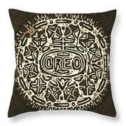 Black Sepia Oreo Throw Pillow