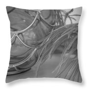 Black Silver And Gray Throw Pillow
