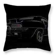 Black Ss Line Art Throw Pillow by Douglas Pittman