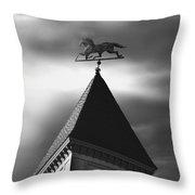 Black Stallion Weathervane Throw Pillow