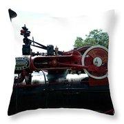 Black Steam Engine Throw Pillow