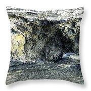 Black Surf Throw Pillow