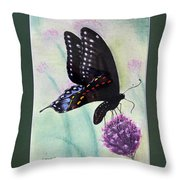 Black Swallowtail Butterfly By George Wood Throw Pillow