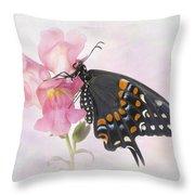 Black Swallowtail Iv Throw Pillow
