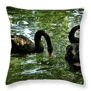 Black Swan Ballet Throw Pillow