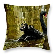 Black Swan Lake Throw Pillow