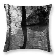 Black Swan Series Iv - Black And White Throw Pillow