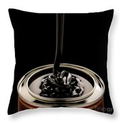 Black Treacle And Can Throw Pillow