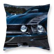 Black Truefiber Mustang Throw Pillow
