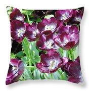 Black Tulips Throw Pillow