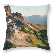 Black Tusk Mountain And Helm Lake Throw Pillow