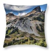 Black Tusk Over Alpine Meadows Throw Pillow