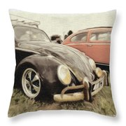 Black Vw Throw Pillow