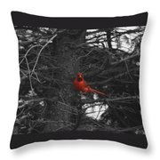 Black White And Red Throw Pillow