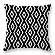 Black And White Pattern Throw Pillow by Christina Rollo