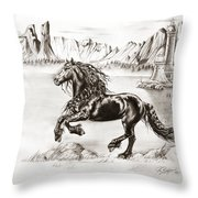 Black Wind Throw Pillow