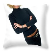 Black17 Throw Pillow
