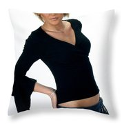 Black18-crop Throw Pillow