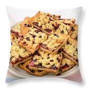 Blackberry Grated Pie Throw Pillow