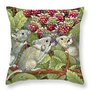 Blackberrying Throw Pillow