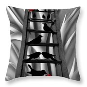 Blackbird Ladder Throw Pillow
