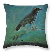 Blackbird Redberry Throw Pillow