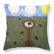 Blackbirds Throw Pillow by Patrick J Murphy