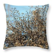 Blackened Gold Throw Pillow