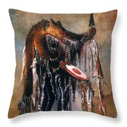 Blackfoot Medicine Man Throw Pillow