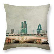 Blackfriars Bridge Throw Pillow