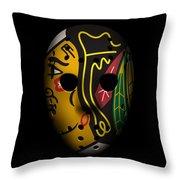 Blackhawks Goalie Mask Throw Pillow