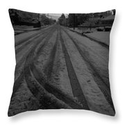 Blackout On Jordan Street Throw Pillow