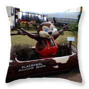 Blackpool Pleasure Beach Lancashire England Throw Pillow