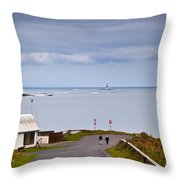 Blackrock Lighthouse, Off Rosses Point Throw Pillow