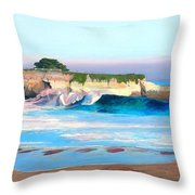 Blacks Beach - Santa Cruz Throw Pillow
