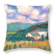 Blacksburg Clouds Throw Pillow